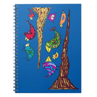 Caderno da conversa do pássaro