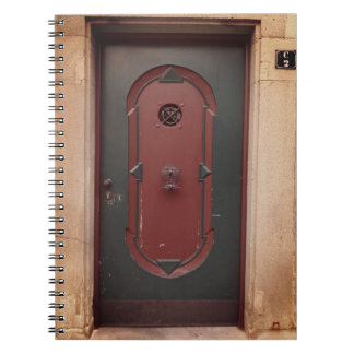 Caderno da foto da porta