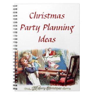 Caderno das ideias do planeamento da festa de Nata
