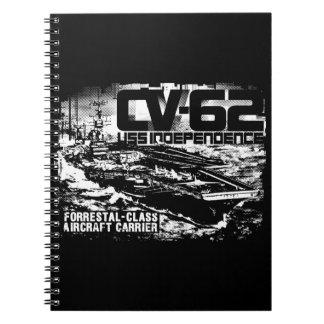 Caderno de Fuji da independência do porta-aviões