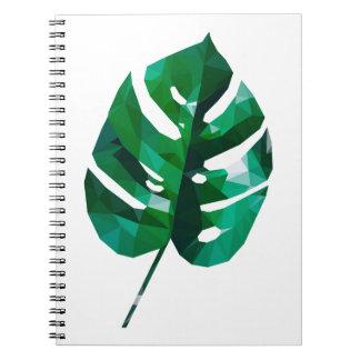 Caderno Design da folha de Monstera