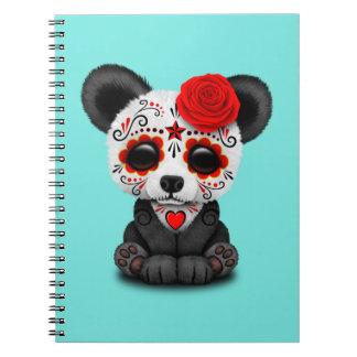 Caderno Dia vermelho da panda inoperante