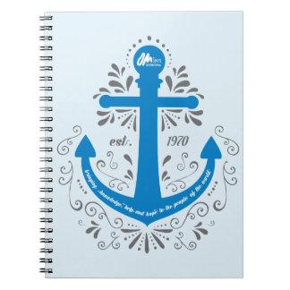 Caderno do azul da âncora de KHH