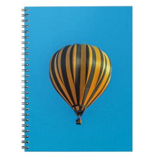 Caderno do balão de ar quente