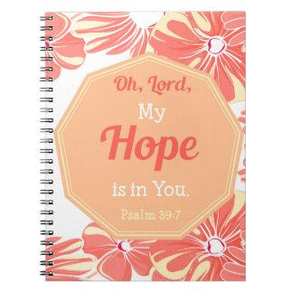 Caderno Espiral 39:7 do salmo minha esperança está em você