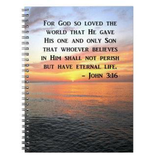 CADERNO ESPIRAL 3:16 DE JOHN DO NASCER DO SOL QUE INSPIRA A FOTO