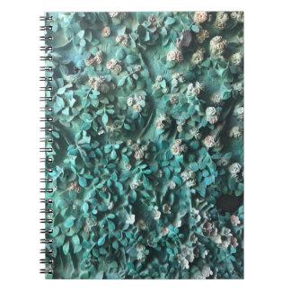 Caderno Espiral Arte com o livro de nota de Gaudi