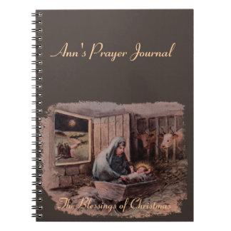 Caderno Espiral As bênçãos do jornal da oração do Natal