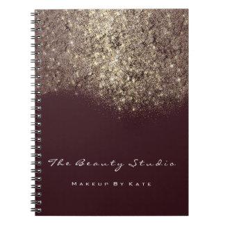 Caderno Espiral Brilho do ouro do artista de Borgonha da