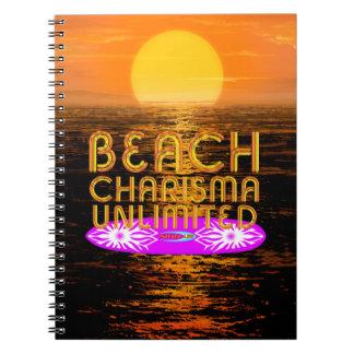 Caderno Espiral Carisma da praia do T