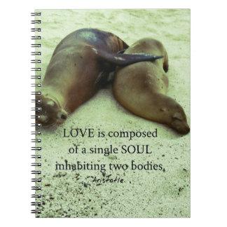 Caderno Espiral Citações de Aristotle dos soulmates do amor