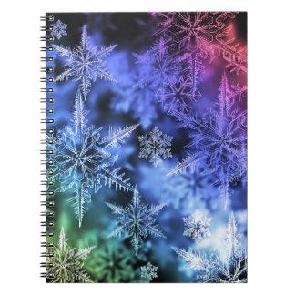 Caderno espiral da foto do Natal