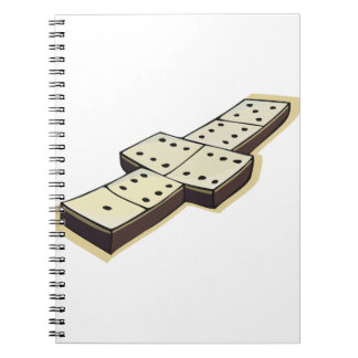 Caderno espiral do jogo dos dominós