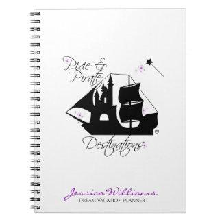 Caderno espiral dos destinos do duende e do pirata