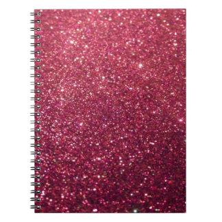 Caderno Espiral Falso alegre chique adorável glittery