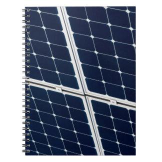 Caderno Espiral Imagem de um painel de energias solares engraçado