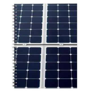 Caderno Espiral Imagem do painel de energias solares engraçada