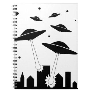 Caderno Espiral Invasão do UFO