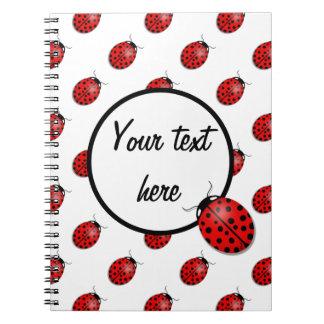 Caderno Espiral Joaninhas no vermelho