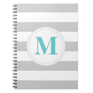 Caderno Espiral Listra larga cinzenta