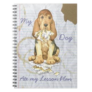 Caderno Espiral Meu Bloodhound comeu meu plano de aula
