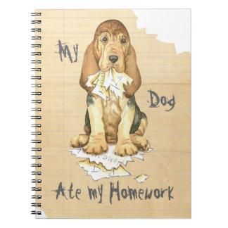Caderno Espiral Meu Bloodhound comeu meus trabalhos de casa