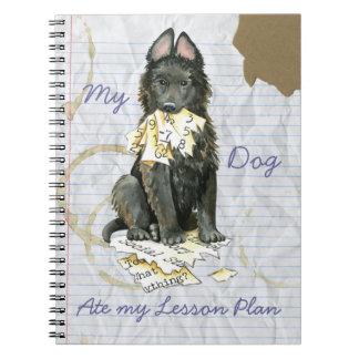Caderno Espiral Meu Sheepdog belga comeu meu plano de aula