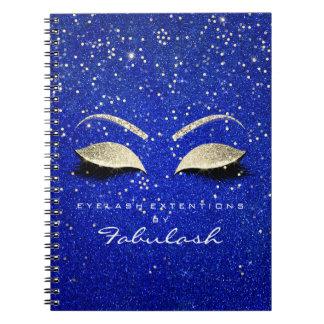 Caderno Espiral O brilho dos chicotes Eyes o azul do ouro do rosa