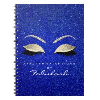 Caderno Espiral O brilho dos chicotes Eyes o cobalto do ouro do