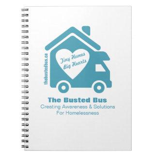 Caderno Espiral O livro de nota rebentado do ônibus
