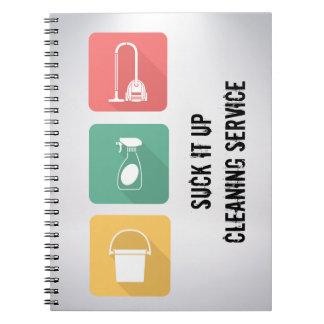 Caderno Espiral Profissional do serviço da empregada doméstica ou