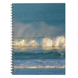 Caderno Espiral Pulverizador da onda de oceano