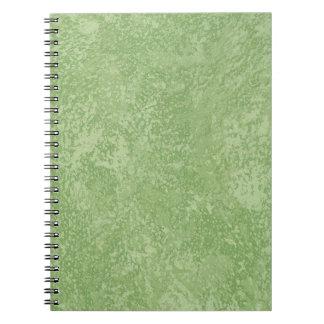 Caderno Espiral Revestimento verde do falso de Marmorino