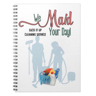 Caderno Espiral Serviço da empregada doméstica ou empresa de