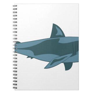 Caderno Espiral Tubarão