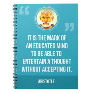 Caderno Espiral Umas citações educadas da mente