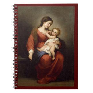 Caderno Espiral Virgin e criança do cristo