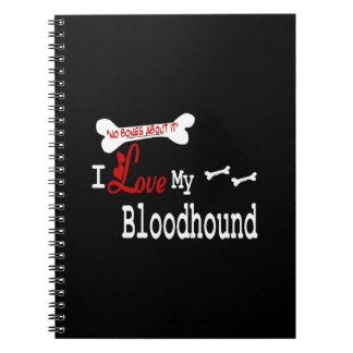 Caderno Eu amo meu Bloodhound