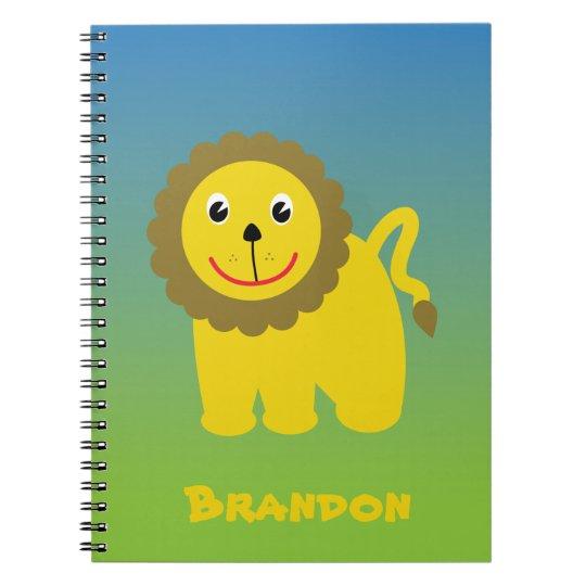Caderno feliz do leão
