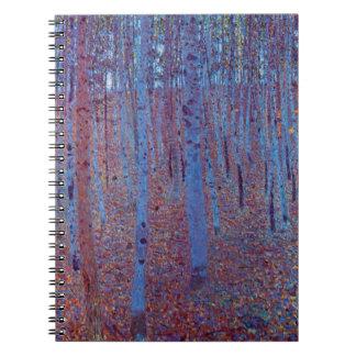 Caderno Floresta da faia por Gustavo Klimt, arte Nouveau