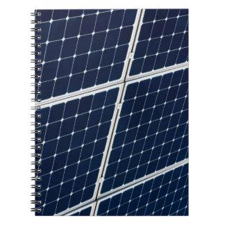 Caderno Imagem de um painel de energias solares engraçado