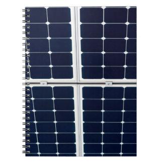 Caderno Imagem do painel de energias solares engraçada