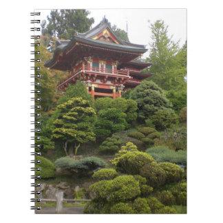 Caderno japonês do jardim de chá de San Francisco
