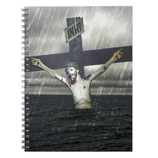 Caderno Jesus na cruz no mar