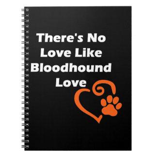 Caderno Não há nenhum amor como o amor do Bloodhound
