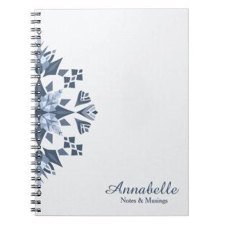 Caderno nevado da Mandala-Espiral