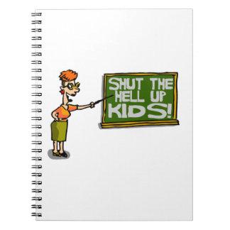 Caderno O professor diz que fechado acima caçoa