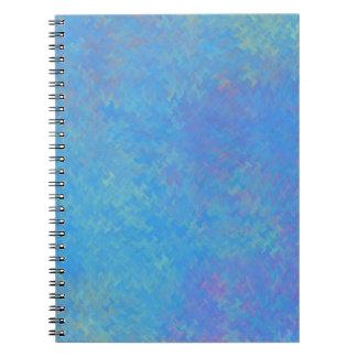 Caderno Olhar bonito do papel marmoreado do azul