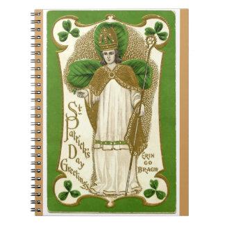 Caderno Os cumprimentos Erin do dia de St Patrick do