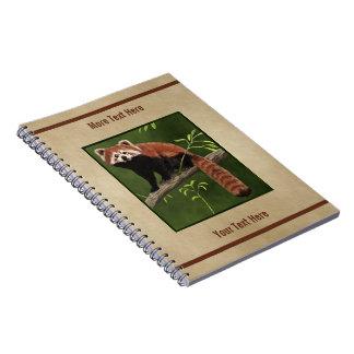 Caderno Panda vermelha